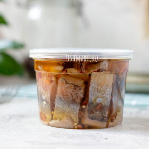 Сельдь филе-кусочки в масле с паприкой