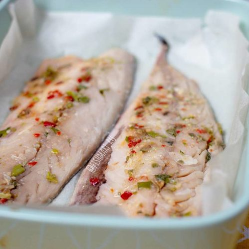 Скумбрия филе для запекания с чесноком и специями