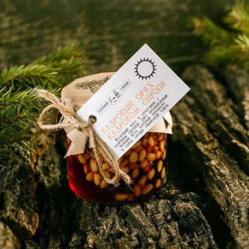 Кедровый орех в кедровом сиропе